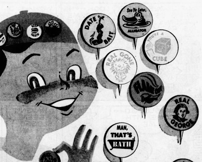 see you later alligator - badges - Akron Beacon Journal - 14 August 1955