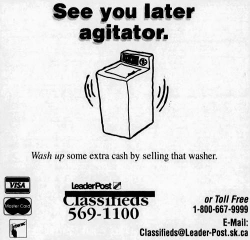 'see you later, agitator' - The Leader Post (Regina, Saskatchewan, Canada) - 14 July 1997