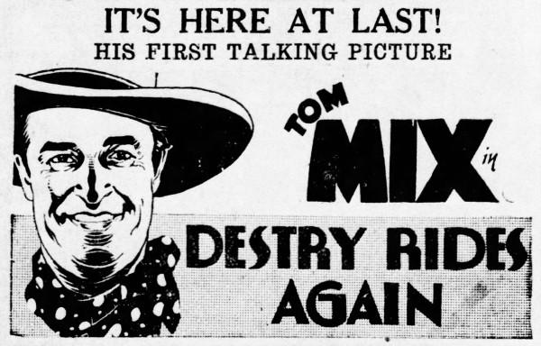 Tom Mix - Bradford Evening Star and the Bradford Daily Record (Bradford, Pennsylvania) - 2 June 1932