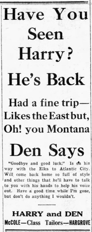 'don't do anything I wouldn't' - Great Falls Daily Tribune (Great Falls, Montana) - 7 July 1911