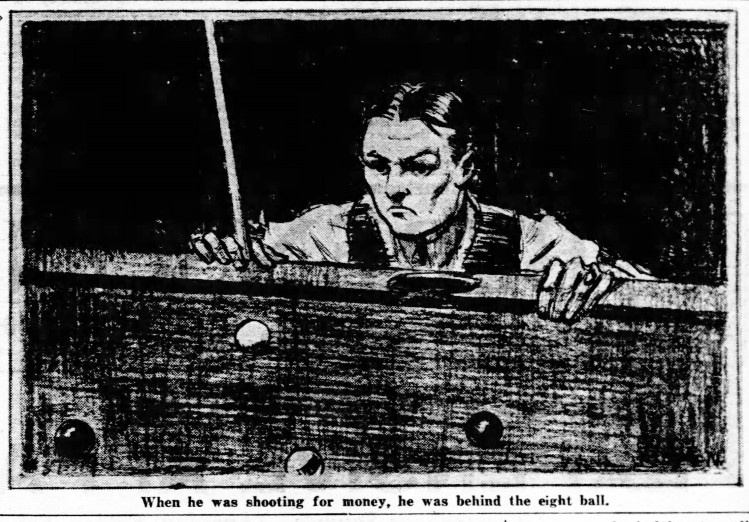 illustration for Behind The Eight Ball - Daily News (New York City, N.Y.) - 4 December 1929