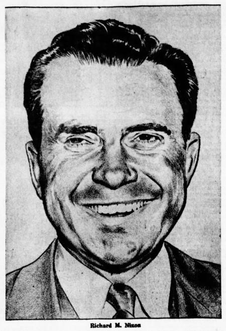 portrait of Richard Nixon - The Sedalia Democrat (Sedalia, Missouri) - 28 July 1960