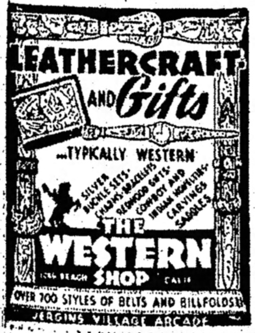 advertisement for The Western Shop - Long Beach Independent (Long Beach, California) - 6 January 1946