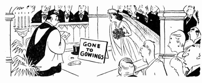 'gone to Gowings' advertisement - The Sun (Sydney, New South Wales) - 4 January 1945