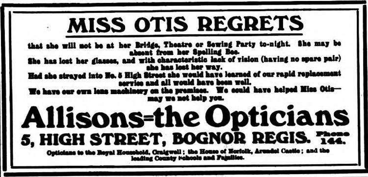 'Miss Otis regrets' - Bognor Regis Observer (Bognor Regis, Sussex, England) - 12 December 1934