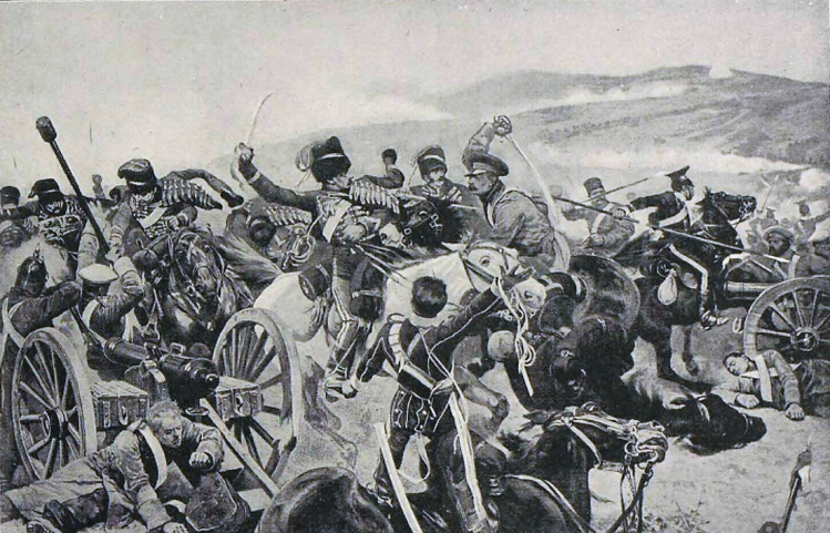Relief of the Light Brigade, by R. Caton Woodville - Illustrated Sporting and Dramatic News (London, England) - 20 November 1897