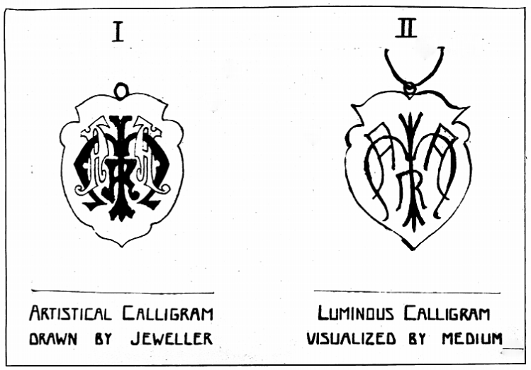 calligrams - Past Events Seership - Proceedings of the American Society for Psychical Research - June 1923