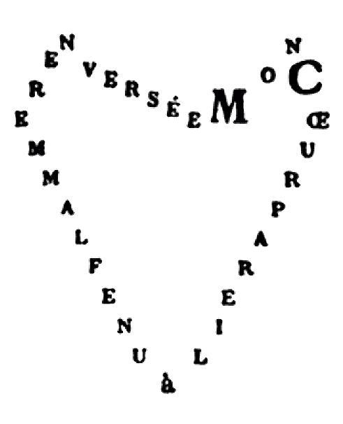 """""""Mon cœur pareil à une flamme renversée"""" - Calligrammes (1918) - Apollinaire"""