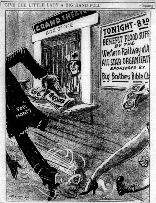 'give the little lady a big hand-full' - The Montgomery Advertiser (Montgomery, Alabama) - 28 March 1929